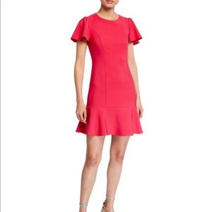 Betsey Johnson poppy t-shirt dress with flounce 10